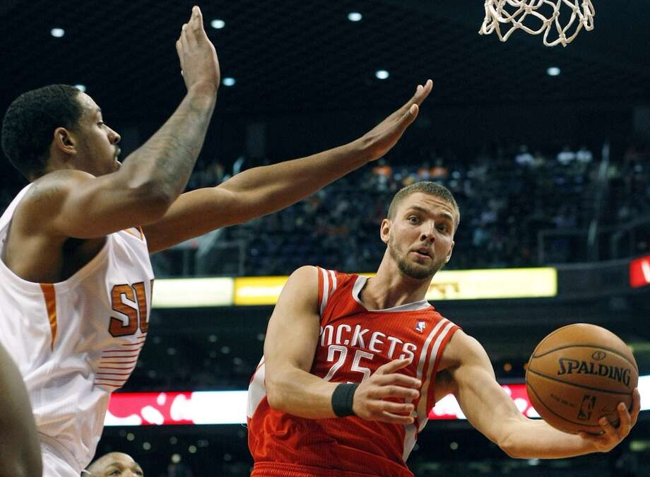Feb. 23: Rockets 115, Suns 112  Rockets forward Chandler Parsons (25) drives on Suns forward Channing Frye. Photo: Rick Scuteri, Associated Press