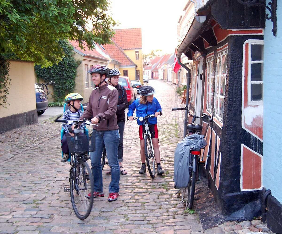 TRAVEL STEVES -- Bicycling is a natural way to explore Denmark?•s peaceful Aero island. Rick Steves / Tribune Media Services Ran on: 07-29-2007 Pedal pushers: Bicycling is a natural way to explore Aero, which has vowed to become completely wind- and solar-powered.