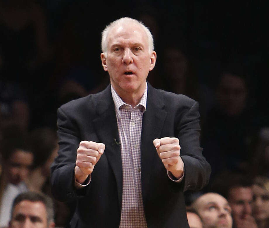 "Gregg Popovich concedes that a zone defense has advantages: ""For some reason ... teams are discombobulated when they see a zone."" Photo: Jason DeCrow / Associated Press / FR103966 AP"