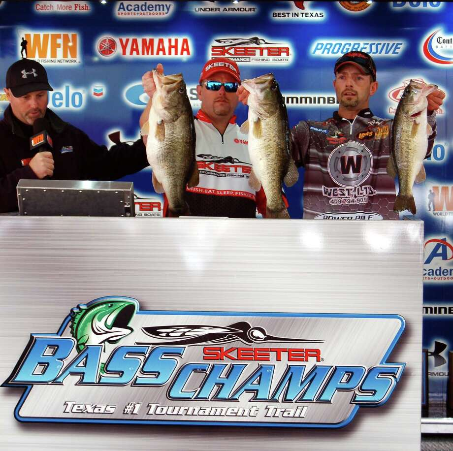 In a close race for 1st place, Ted O'Dell and Kevin Walker, Jr won the tournament by less than two ounces - they also won Big Bass with their 10.98 lb kicker! Photo by Patty Lenderman, Lakecaster