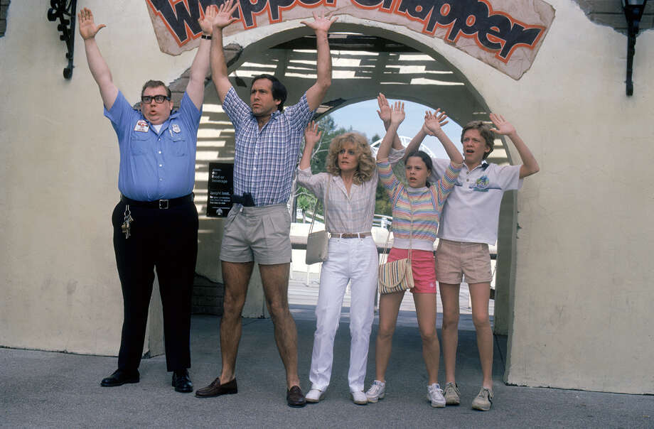 "Ramis directed the 1983 hit ""National Lampoon's Vacation,"" starring, (from left) John Candy as Lasky, Chevy Chase as Clark Griswold, Beverly D'Angelo as Ellen Griswold, Dana Barron as Audrey Griswold, and Anthony Michael Hall as Rusty Griswold. Photo: Warner Bros., File Photo / (C) Warner Bros. Entertainment Inc."