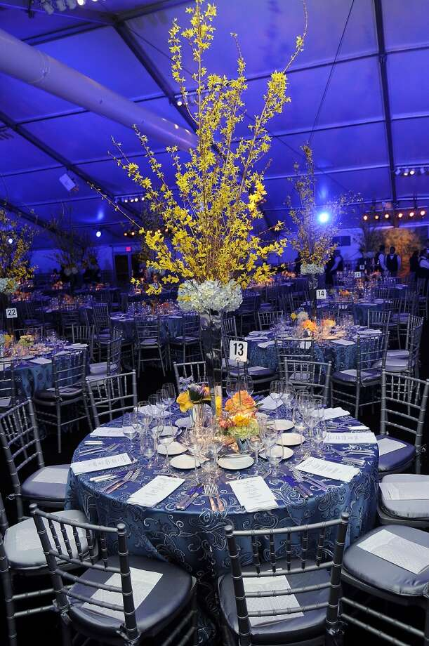 A table inside the tent  (Photo by Dave Rossman/For the Chronicle) Photo: Dave Rossman, For The Houston Chronicle