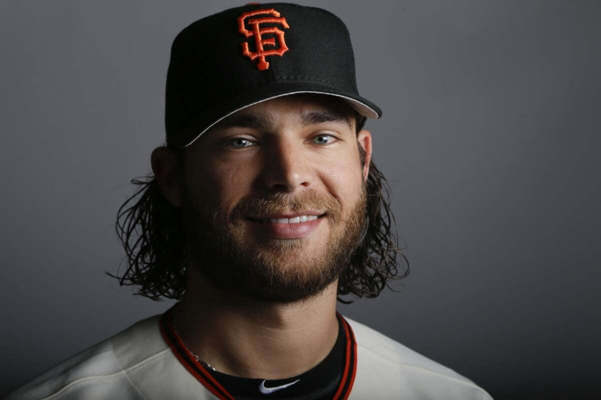 This is a 2014 photo of Brandon Crawford of the San Francisco Giants baseball team.