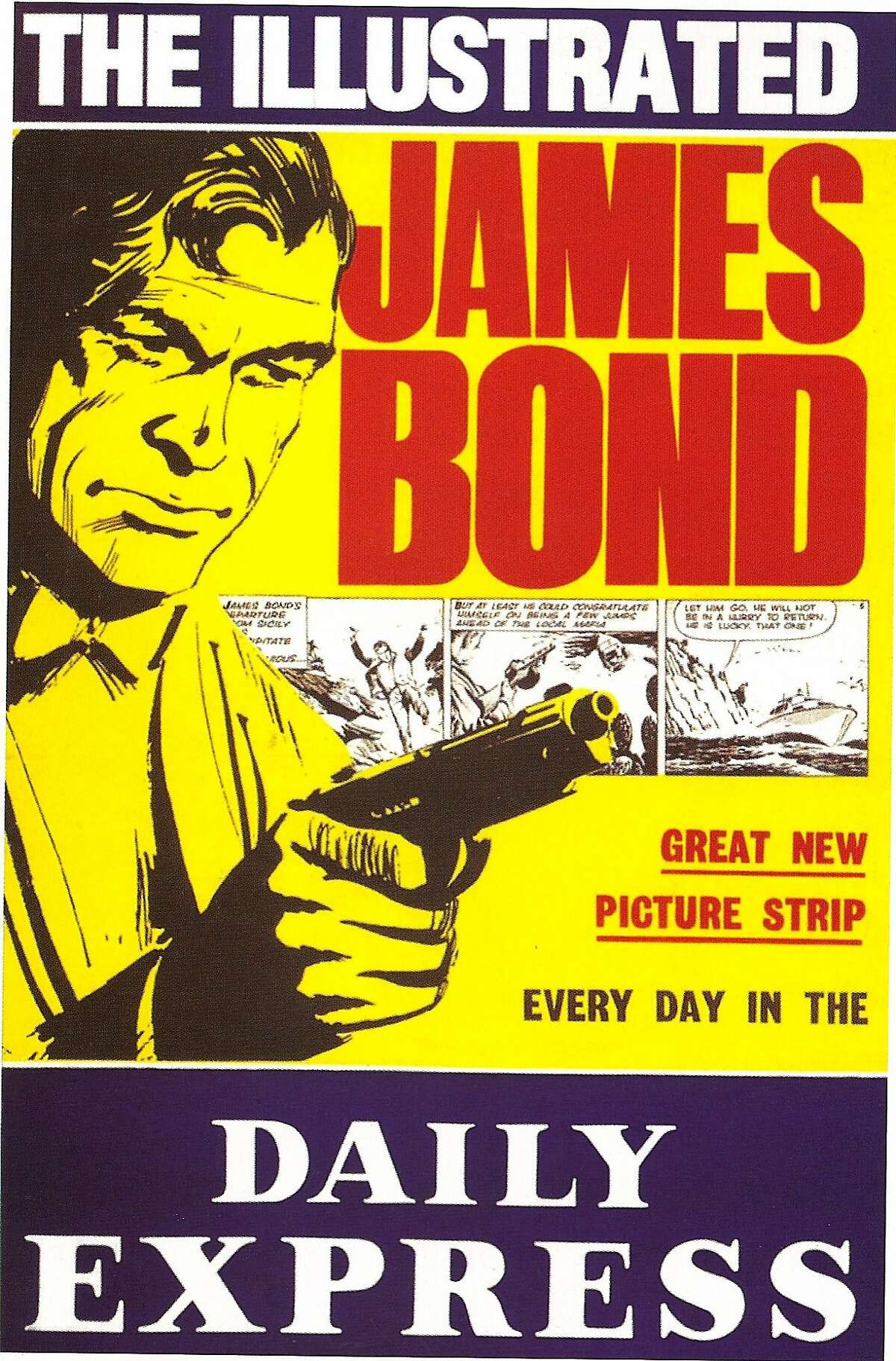 Poster promoting the Bond newspaper strips in the Daily Express - art by John McClusky