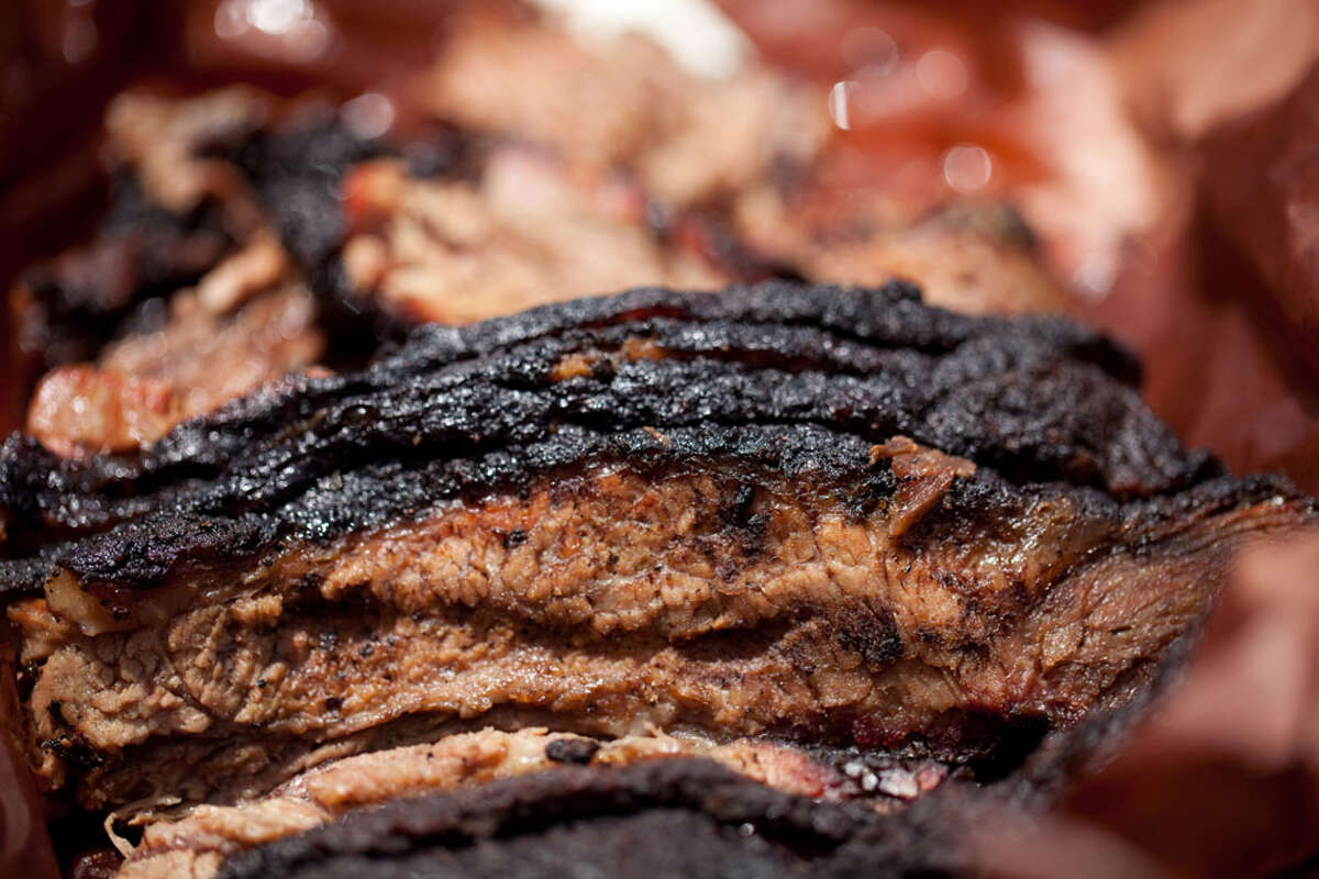 Brisket as served at Franklin Barbecue (Photo by Paul Sedillo)