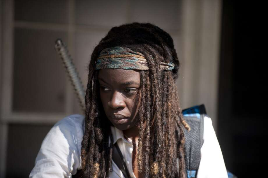 Michonne (Danai Gurira) - The Walking Dead _ Season 4, Episode 11 - Photo Credit: Gene Page/AMC