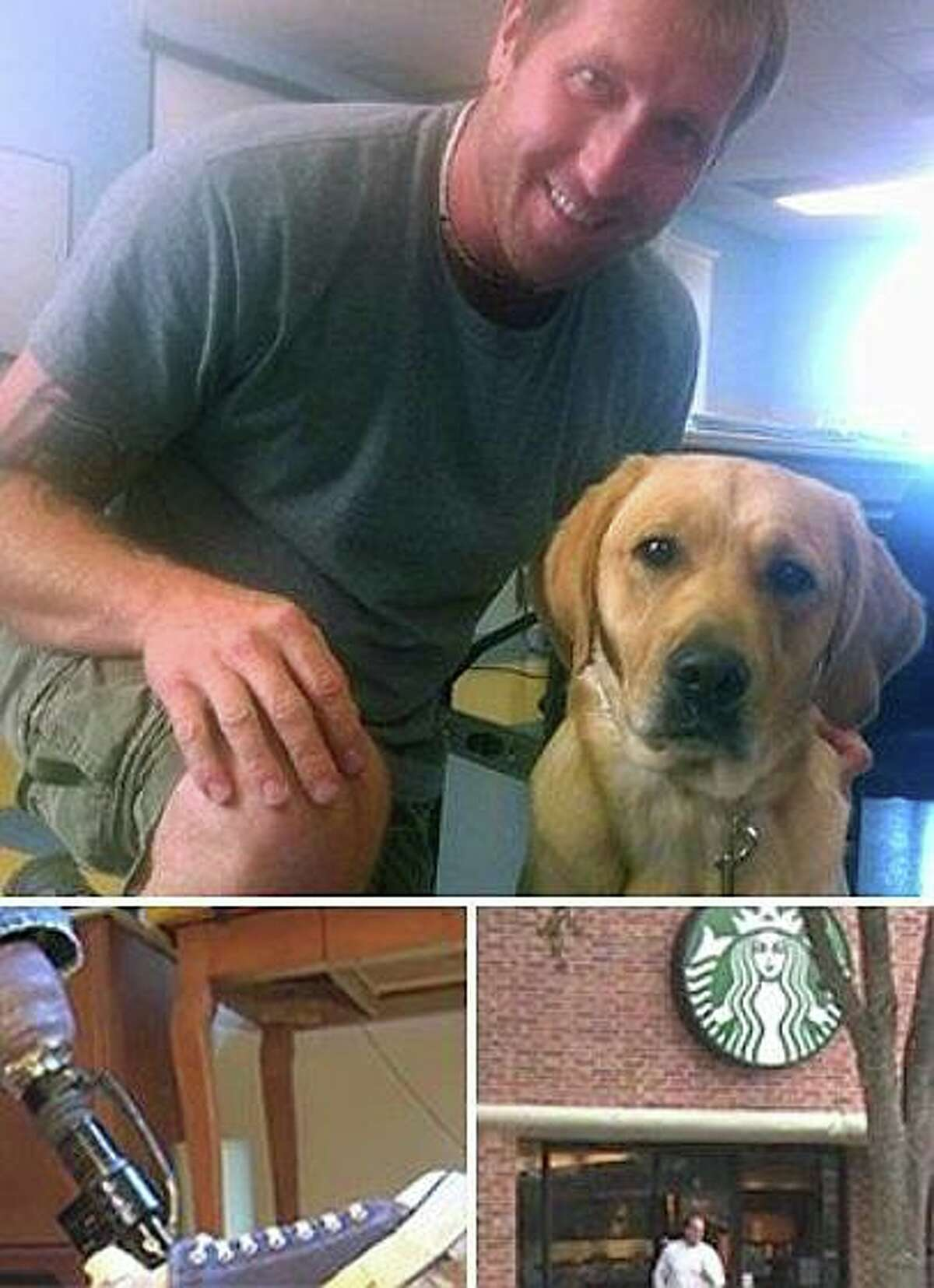 Yancy Baer and his service dog Verbena were refused entry into a Memorial area Starbucks, the first of two such incidents in two weeks.