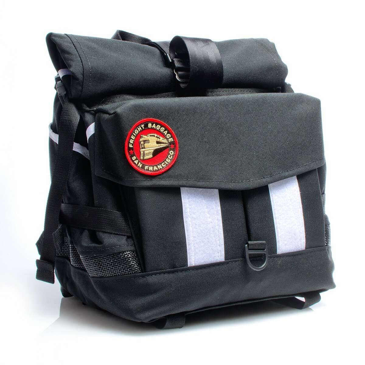 Founded in 2005, Freight offers an ultra-padded Bike Bag ($400) that packs up bicycles for air travel; a soda holster ($25) that attaches to the bike frame for easy access; and everything in between, including Rolltop bags, reminiscent of Eagle Scout backpacks. Freight's products are made with indestructible 1000D Cordura fabric, waterproof vinyl lining and a host of other reinforcing materials that are all domestically manufactured. They're sold at Freewheel, 914 Valencia St., S.F. (415) 643-9213. www.thefreewheel.com, and online at www.freightbags.com. Pictured is a Rack bag.