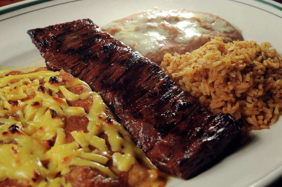 The carne asada with cheese enchiladas at Grace's on Kirby, a new restaurant from Johnny Carrabba, 3111 Kirby Drive.  Photo: Dave Rossman, Freelance / Freelance