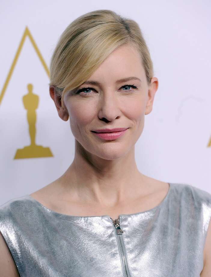 Here is Cate Blanchett at the Academy Awards nominee luncheon in 2014. Photo: Kevin Winter, Getty Images