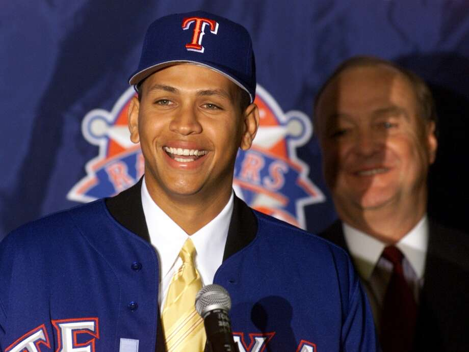 Less than 15 years ago, Alex Rodriguez shocked the sports world by signing with the Texas Rangers for a then-unheard of deal amounting to roughly $25.2 million per year ($252 million over 10 years). That same record-breaking contract today, however, wouldn't even put A-Rod in the sports world's Top 15. Here's who made ESPN's full Top 25, based on current base salary or prize money (i.e. no endorsements). Photo: Donna McWilliam, Associated Press