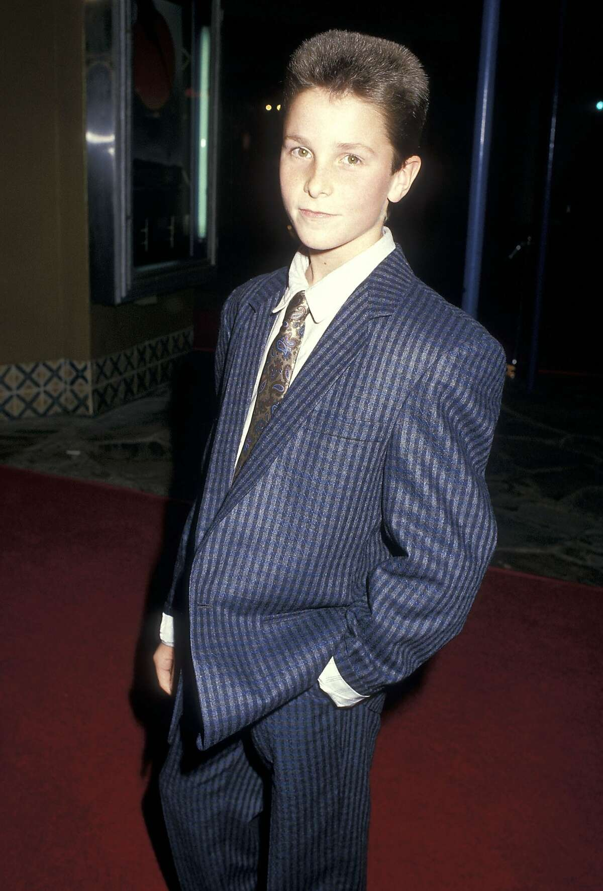 """Christian Bale at the """"Empire of the Sun"""" premiere in 1987."""