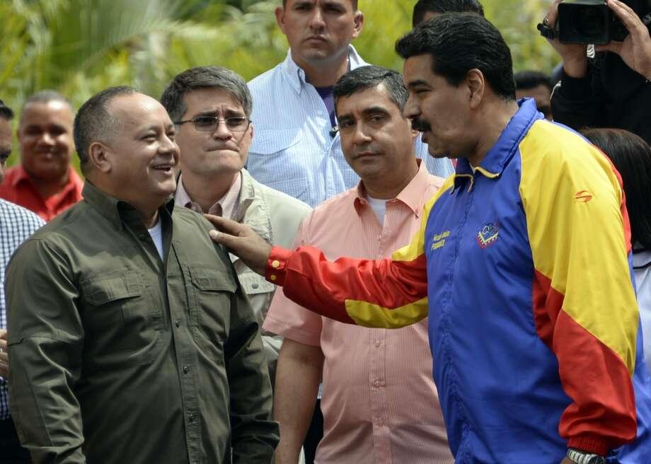El presidente venezolano Nicolás Maduro en Caracas el lunes 24 de febrero de 2014. Photo: JUAN BARRETO, AFP/Getty Images
