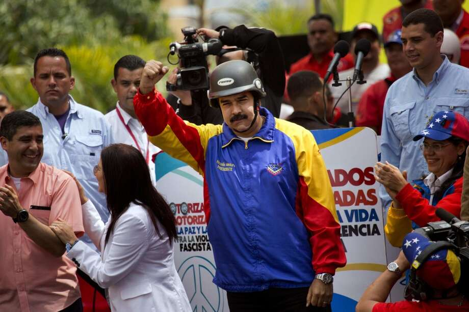 El presidente venezolano Nicolás Maduro en Caracas el lunes 24 de febrero de 2014. Photo: Rodrigo Abd, Associated Press