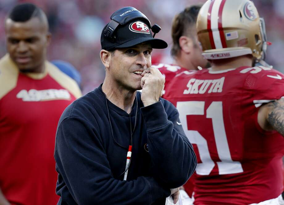 Reports of trade talks involving Jim Harbaugh spotlight the fragile relationship between the 49ers and their coach. Photo: Brant Ward, The Chronicle