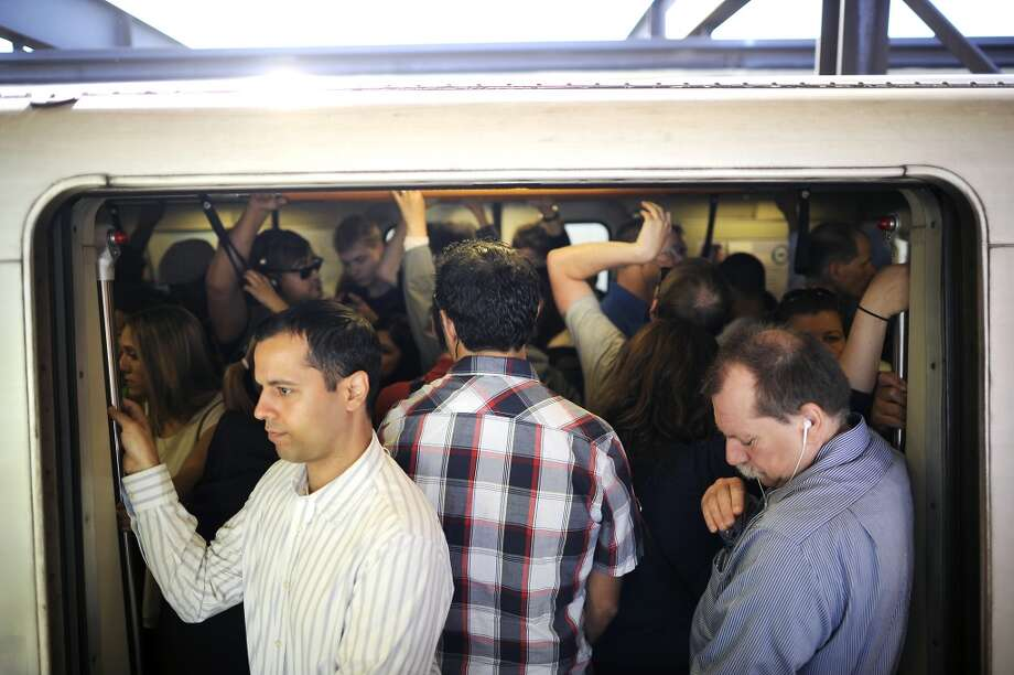 Don't have a full-fledged panic attack when BART riders are exposed to measles. You're vaccinated. Stop worrying. Instead, worry about the abundant fecal matter on the seats! Photo: Michael Short, Special To The Chronicle