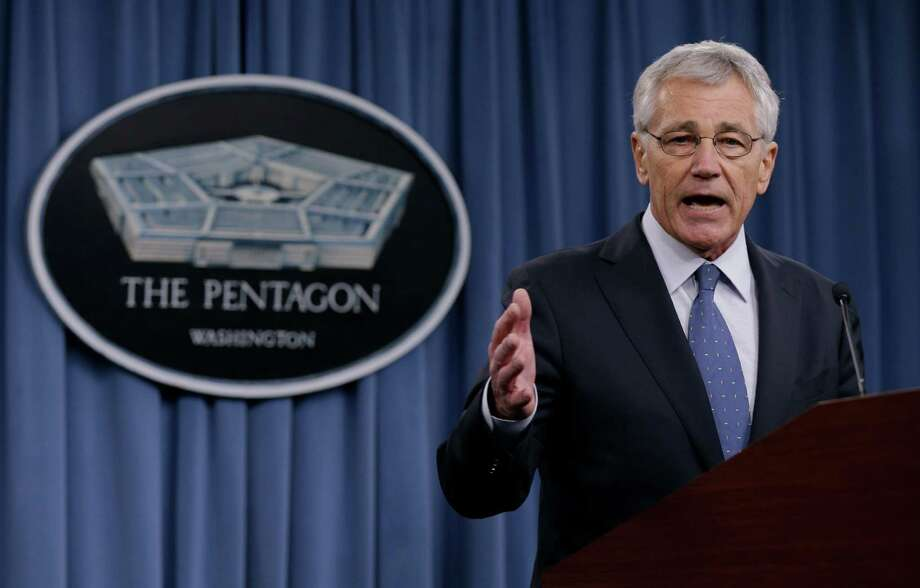 """Defense Secretary Chuck Hagel's proposed budget aims to scale back the U.S. military to pre-World War II size. """"We are entering an era where American dominance on the seas, in the skies and in space can no longer be taken for granted,"""" he said. • Military must shrink to face new era Photo: Carolyn Kaster, STF / AP"""