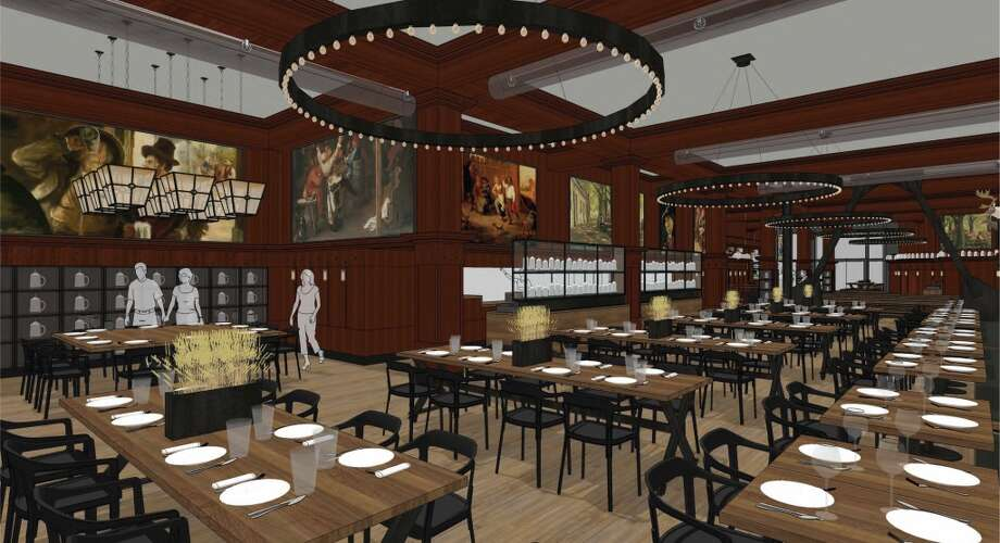 Rendering of the revamped Schroeder's. This is the new dining area in the rear of the restaurant. The front half is remaining a beer hall. Photo: BCV Architects