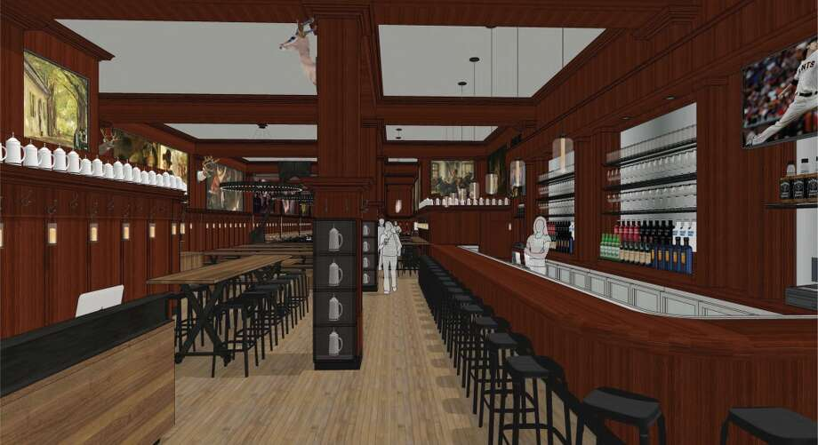 Rendering of the revamped Schroeder's. Another view of the bar, with a Tim Lincecum cameo. Photo: BCV Architects