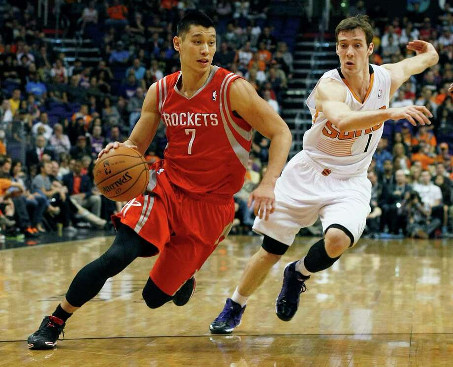 The Rockets and guard Jeremy Lin earned their ninth win in the past 10 games Sunday, rallying from an 11-point deficit in the final quarter against the Suns. Photo: Rick Scuteri, FRE / FR157181 AP