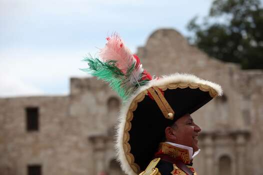 Hilario De La Peña portrays Col. Juan Almonte, member of the Mexican Army and veteran of the Battle of the Alamo, Aug. 18, 2012. Photo: Lisa Krantz, Express-News