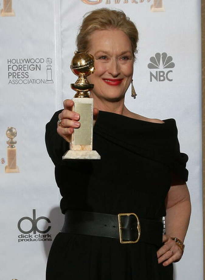 Meryl Streep really should have won for JULIE AND JULIA, over Sandra Bullock in THE BLIND SIDE -- though nothing against Sandra Bullock in THE BLIND SIDE. Photo: AFP, AFP/Getty Images / 2010 AFP