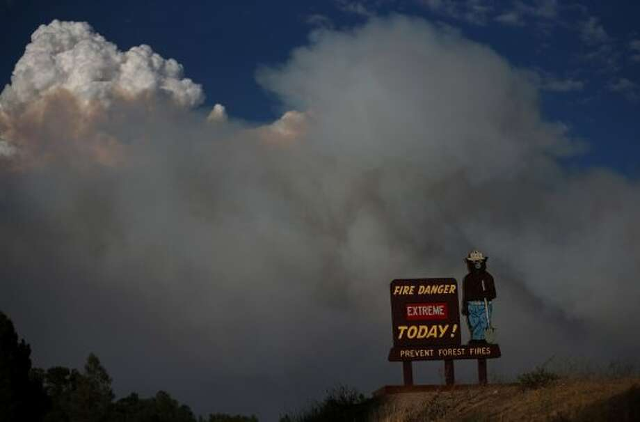 Smokey Bear fire signsSmokey warns campers about fire danger around the country, but California campers have to pay special attention or they'll start huge blazes like the 2013 Rim Fire, pictured. Photo: Justin Sullivan, Getty Images