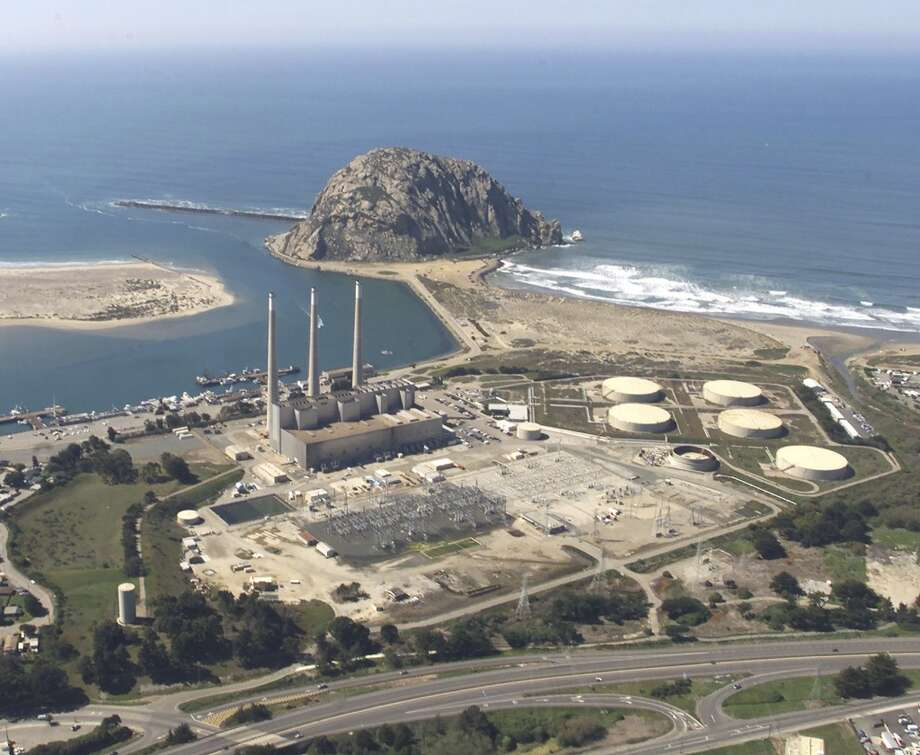 Morro Rock and the Morro Bay smokestacks