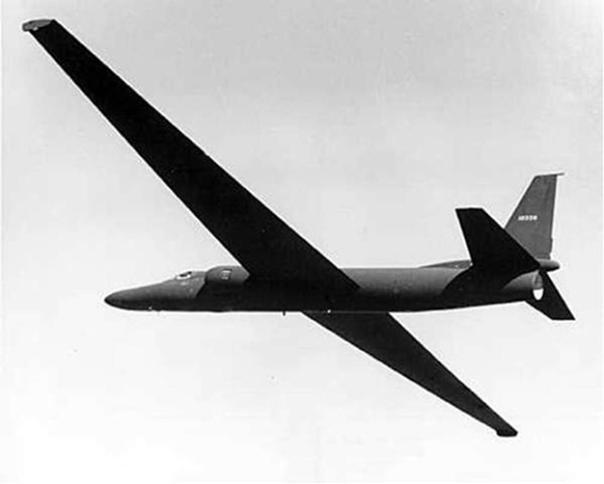 In an Aug. 4, 1955 photo provided by the CIA, the prototype U-2 spy plane is tested at what became known at Area 51 in Nevada. The CIA is acknowledging in the clearest terms yet the existence of Area 51, the top-secret Cold War test site that has been the subject of conspiracy theories for decades. (AP Photo/CIA)