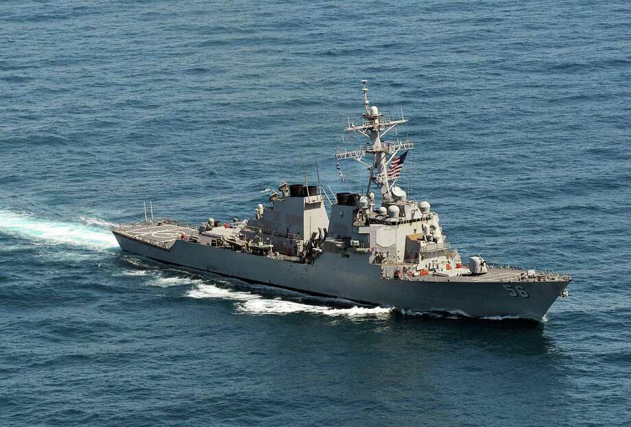 Sailors on the guided-missile destroyer USS John S. McCain are banned from drinking alcohol or leaving their base in Japan. The restriction affects all 19,000 U.S. Navy personnel assigned there. Photo: HO, AFP/Getty Images / AFP
