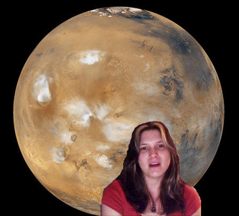 "Teressa Mack says she wants to take the one-way trip to the Red Planet: ""I like the idea of starting a new civilization."" Photo: Photo Illustration"