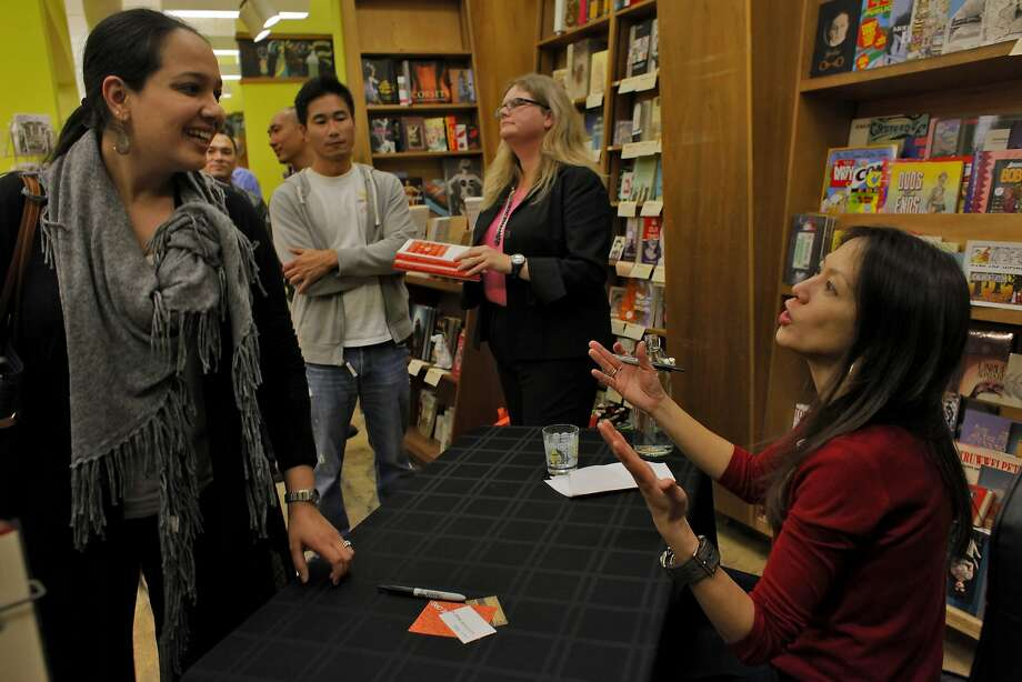 "Author Amy Chua discusses her controversial book ""Battle Hymn of the Tiger Mother"" at an S.F. bookstore in 2011. Her new work is just as provocative. Photo: Lacy Atkins, The Chronicle"