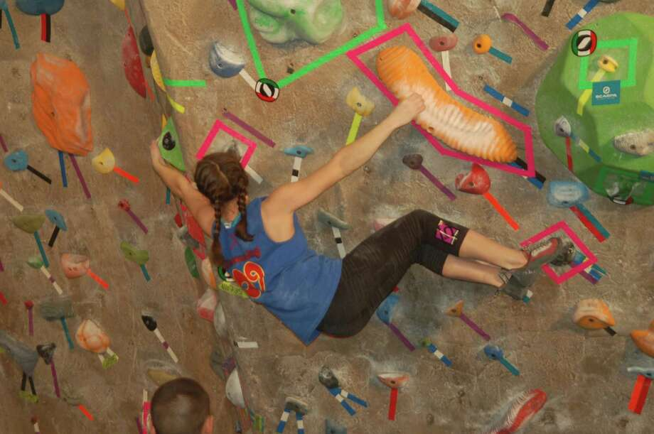 New Canaan's Lucy Wilks will compete at the USA Climbing youth national championships this weekend in Colorado Springs, Colo. Photo: Contributed Photo, Contributed / New Canaan News Contributed