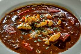 Seafood Gumbo at Hardwater in San Francisco, Calif., is seen on February 13th, 2014.