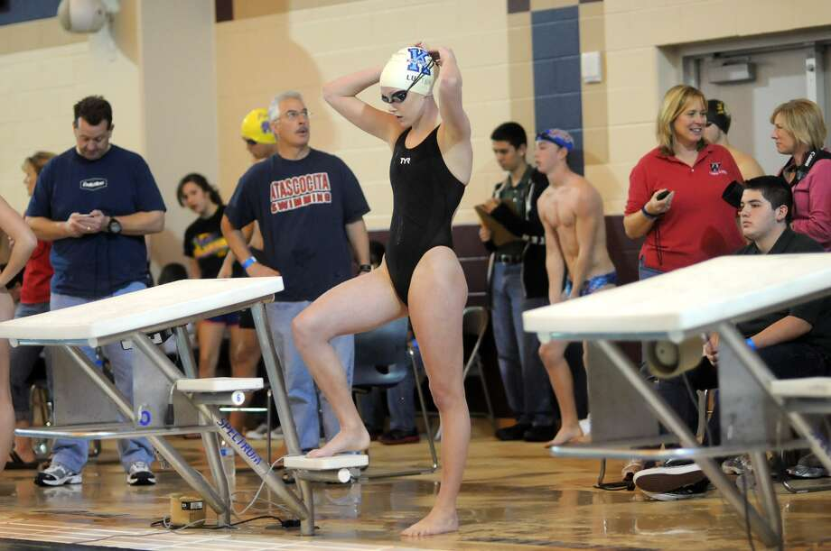 Lexie Lupton won both the 50- and 100-yard freestyle events at the University Interscholastic League Class 5A Swimming and Diving state meet in Austin. Photo: Jerry Baker, Freelance