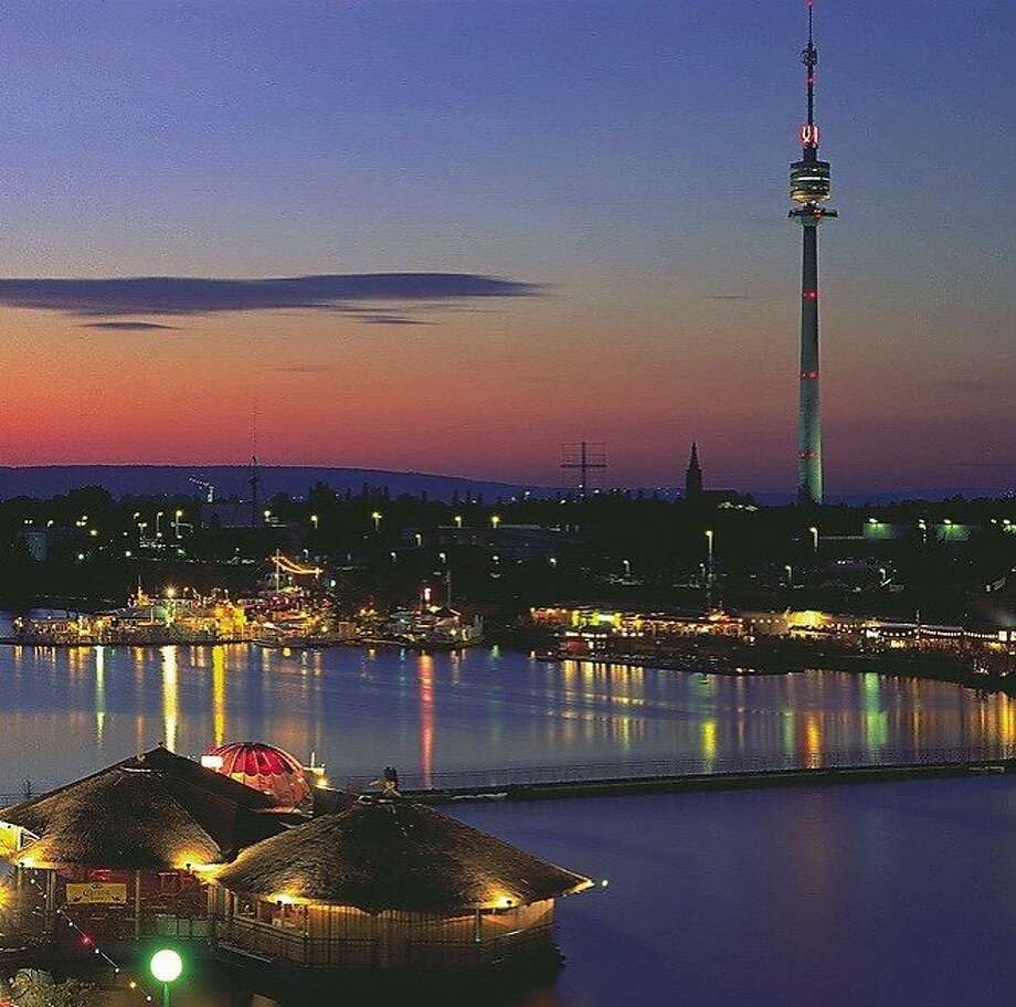 Vienna's 50-year-old Danube Tower is the country's highest structure. Photo: G. Popp, © Austrian National Tourist Offi