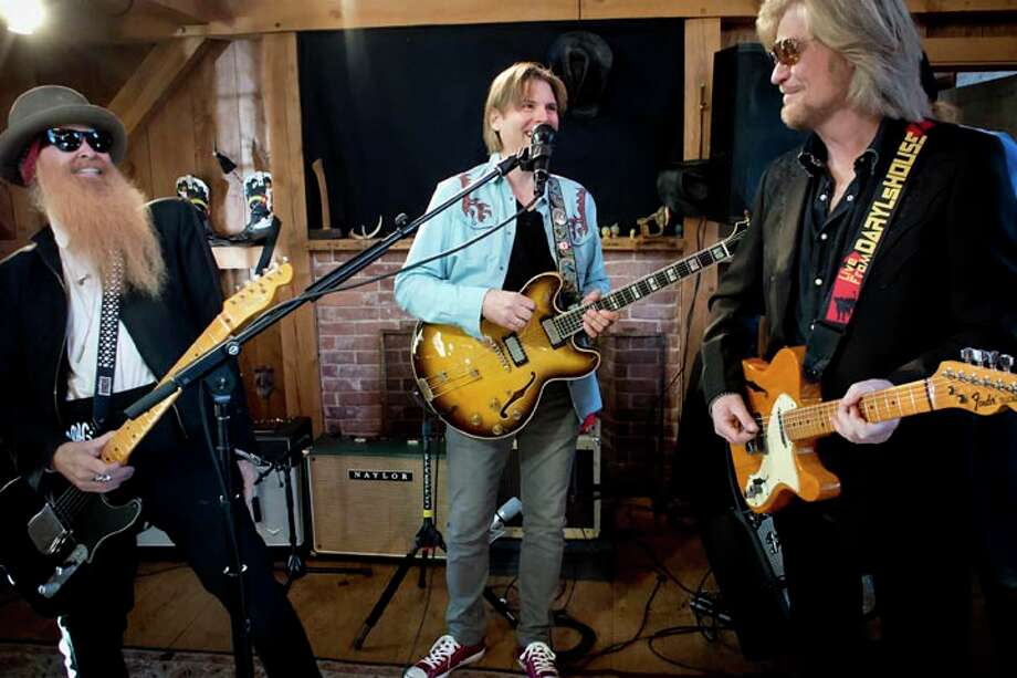 From left to right are musicians Billy F. Gibbons of ZZ Top, Shane Theriot, and Daryl Hall. Photo: Contributed Photo/www.ianjphoto., Www.ianjphoto.com/Contributed Ph / The News-Times Contributed
