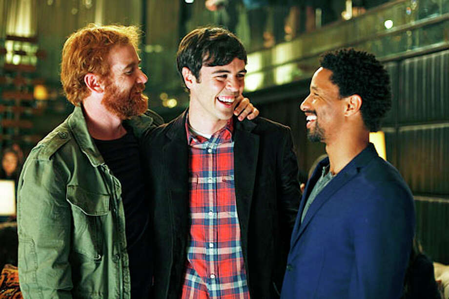 "Ron Batzdorff / ABC  Andrew Santino, left, Blake Lee and Craig Frank star in ABC's new situation comedy ""Mixology,"" which premieres Wednesday."