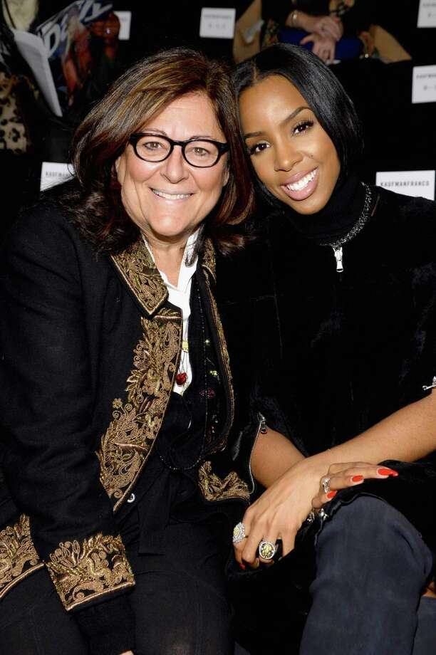 Fern Mallis, left, sat next to Houston singer Kelly Rowland at the Kaufmanfranco show during Mercedes-Benz Fashion Week Fall 2014 earlier this month. Photo: Larry Busacca, Staff / 2014 Getty Images