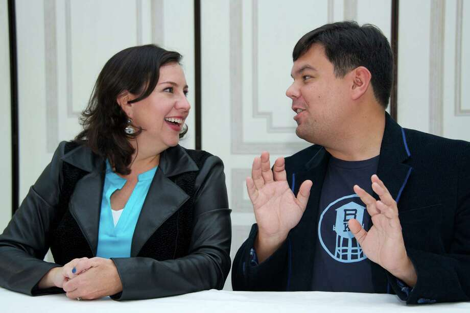 "Kristen Anderson-Lopez and Robert Lopez, singer and composer of ""Let It Go"" Trey Parker and Matt Stone, the ""South Park"" creators who also produced the Broadway musical smash ""The Book of Mormon"" with Lopez, wrote of the duo ""It's catchy and familiar and yet new. It's that perfect mix where a songwriter can get a song you've never heard before stuck in your head in 30 seconds."" Photo: Vera Anderson, Contributor / 2013 Vera Anderson"