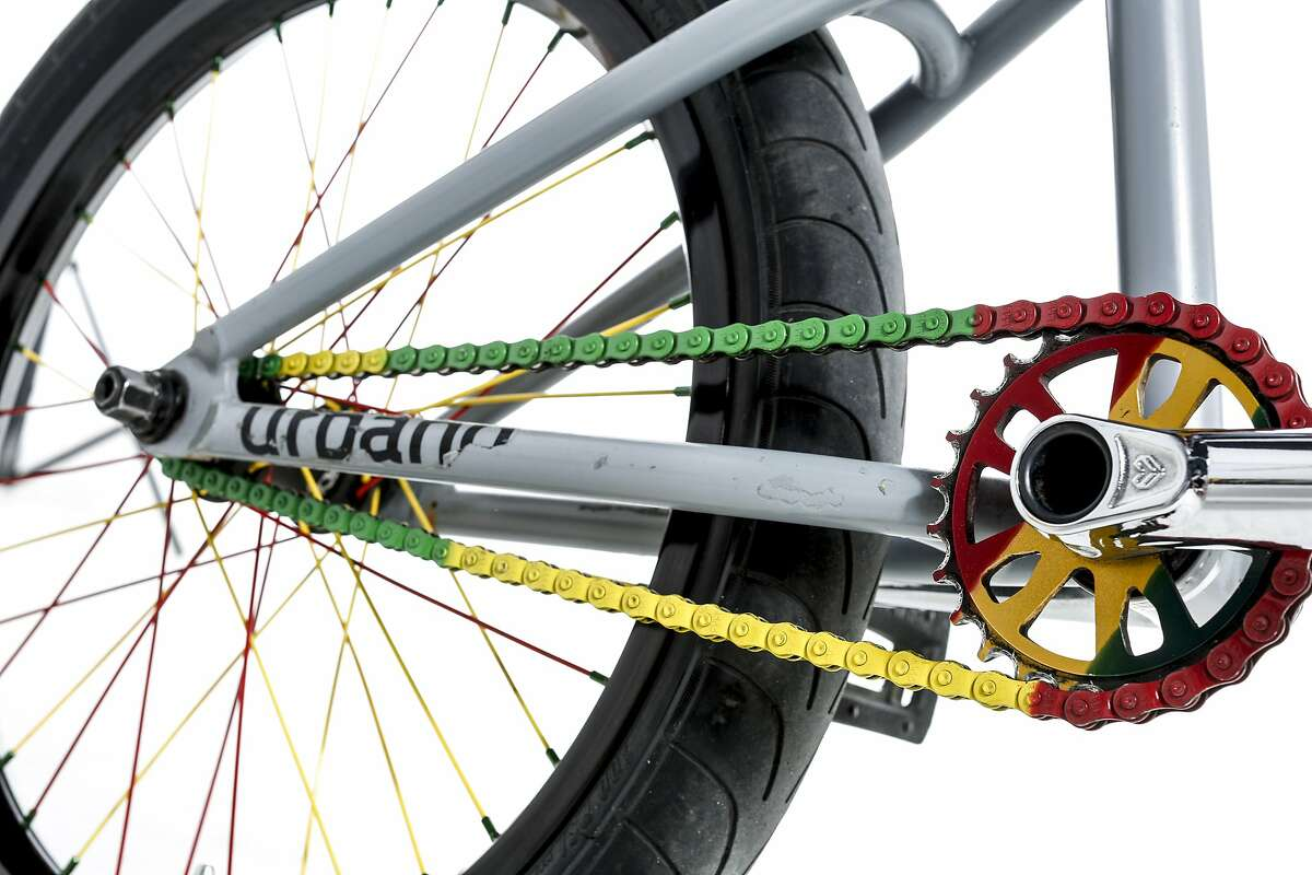 A close up of Michael Henry's Cult BMX bike.