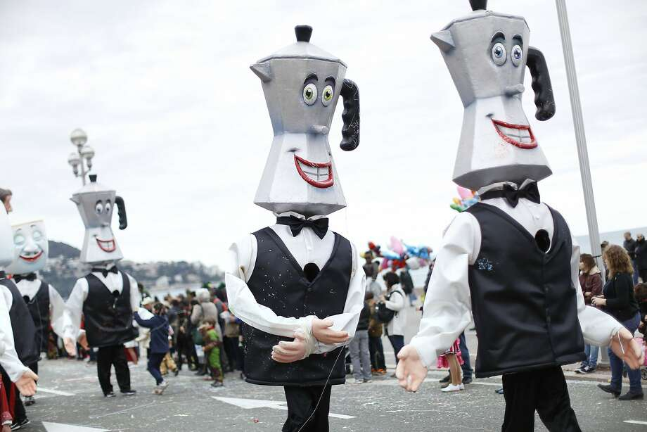 Dude, I'm totally roasted:The Nice Carnival used to be a good time until the potheads ruined it. Photo: Valery Hache, AFP/Getty Images