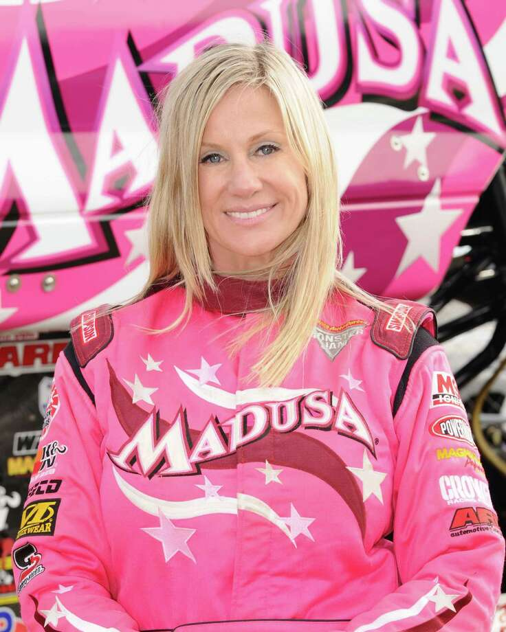 Madusa will show off her hot pink big wheels when  Monster Jam rolls into Bridgeport's Webster Bank Arena Friday through Sunday, March 7-9. Photo: Contributed Photo / Connecticut Post Contributed