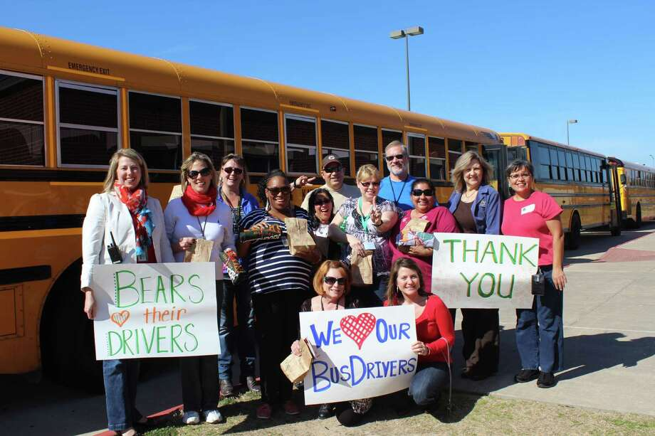 Beckendorff Junior High School recently paid tribute to its bus drivers. Photo: Courtesy Of Beckendorff Junior High School