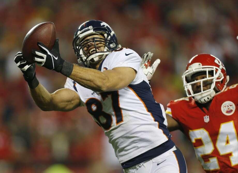 Eric Decker  Age: 26  2013 team: Denver Broncos  2013 stats: 87 catches, 1288 yards and 11 TDs Photo: Ed Zurga, Associated Press