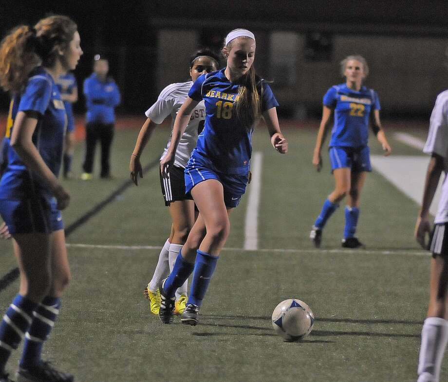 Selena Wicklund (18) controls the ball for Klein during the first half of their game at Westfield last week. Photo: Â Tony Bullard 2014, Freelance Photographer / © Tony Bullard & the Houston Chronicle