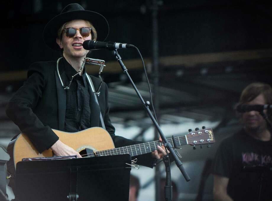 "Beck performs during the 2013 Newport Folk Festival last summer. His first release in six years is ""Morning Phase."" Photo: WireImage / 2013 Anna Webber"
