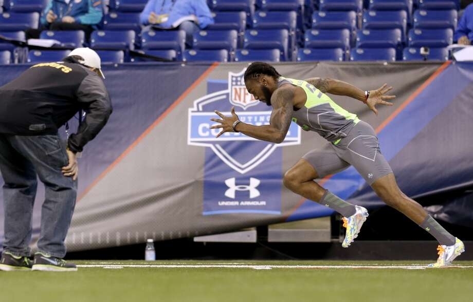 Georgia Southern defensive back Lavelle Westbrooks runs the 40-yard dash. Photo: Nam Y. Huh, Associated Press
