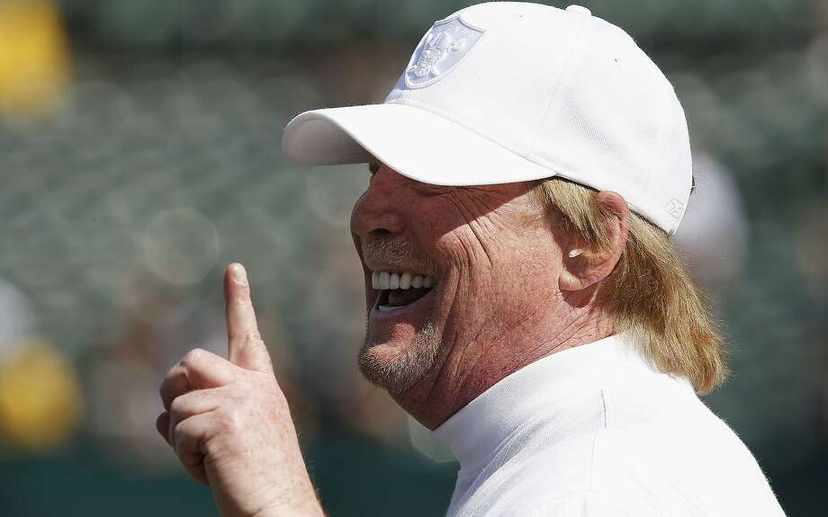 Oakland Raiders owner Mark Davis smiles before an NFL preseason football game against the Dallas Cowboys. Photo: Tony Avelar, Associated Press