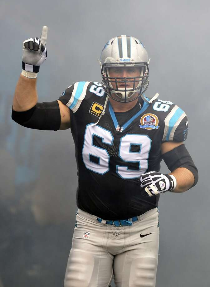 Jordan Gross, a three-time Pro Bowler, played 11 seasons for Carolina. Photo: Rainier Ehrhardt, Associated Press